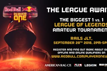 Calling all LOL Players! Rails JLT will be hosting the qualifiers for Red Bull Player One League of Legends tournament. For more info, please visit https://goo.gl/GJ8Cgg